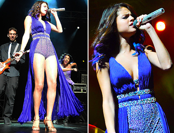 selena gomez purple ombre hair