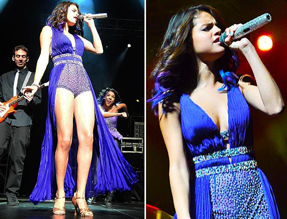 selena gomez purple ombre hair