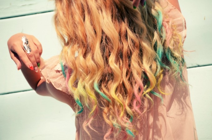 ombre hair chalking method 3