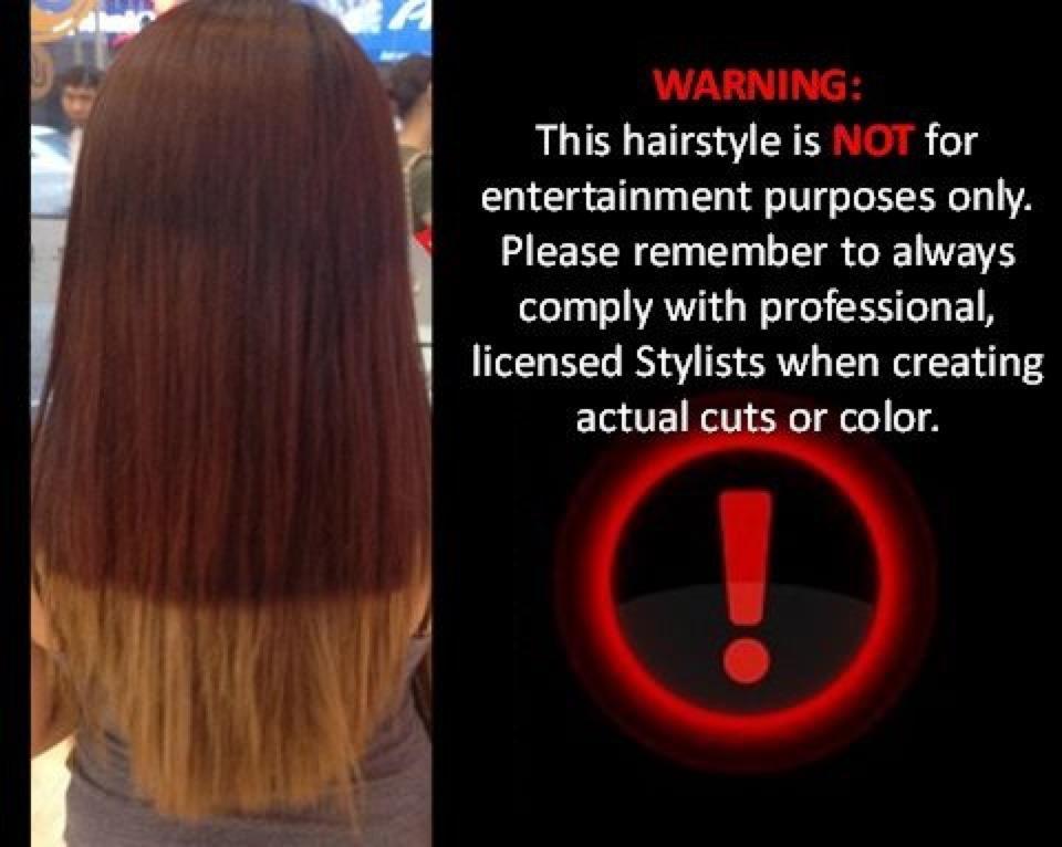 ombre hair at salon