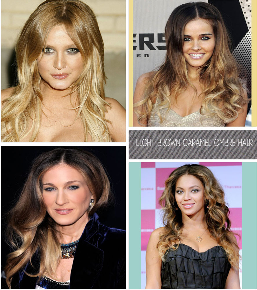 light brown caramel ombre hair