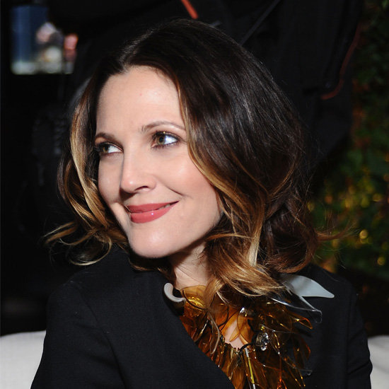 drew barrymore subtle ombre hair