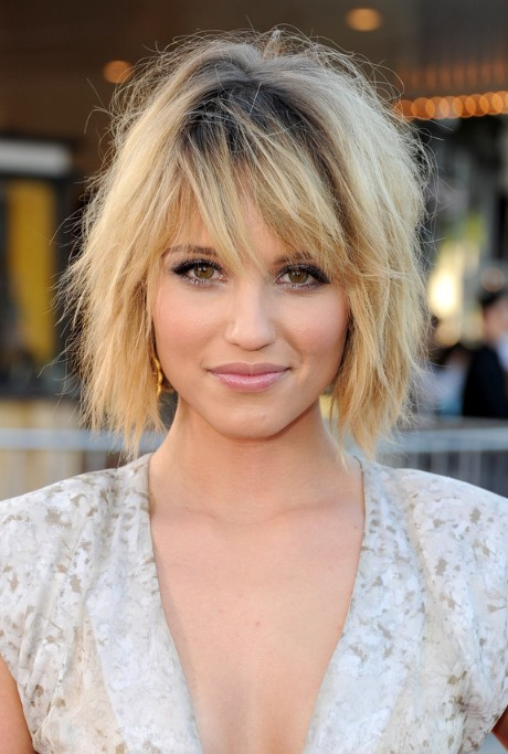 Dianna Agron short ombre hair