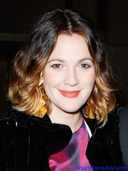 drew barrymore short hair ombre