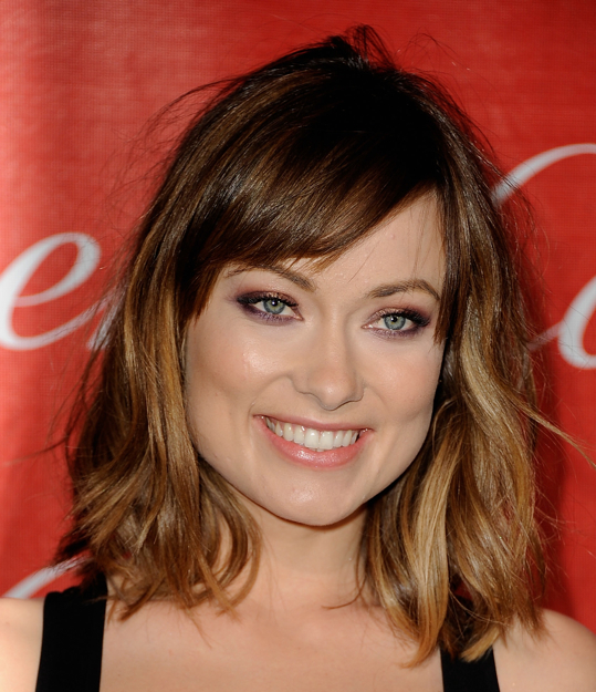 Olivia Wilde ombre short hair