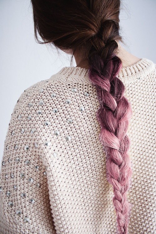 pastel and pink ombre hair