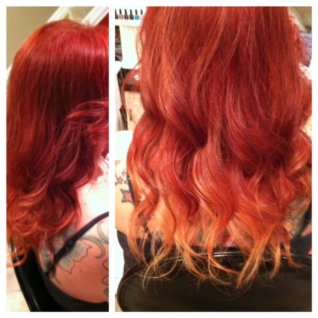 citrus ombre hair