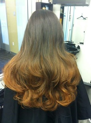 bronzed gold ombre