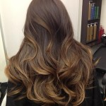 dark black brown ombre