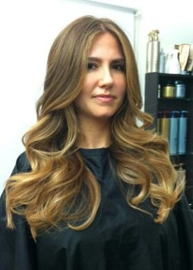 natural gold ombre