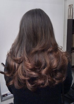 natural lokking balayage ombre on indian hair