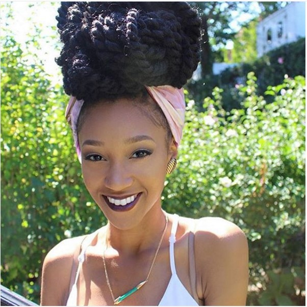 big rope senegalese twist bun with headband hairstyle ombrehair org