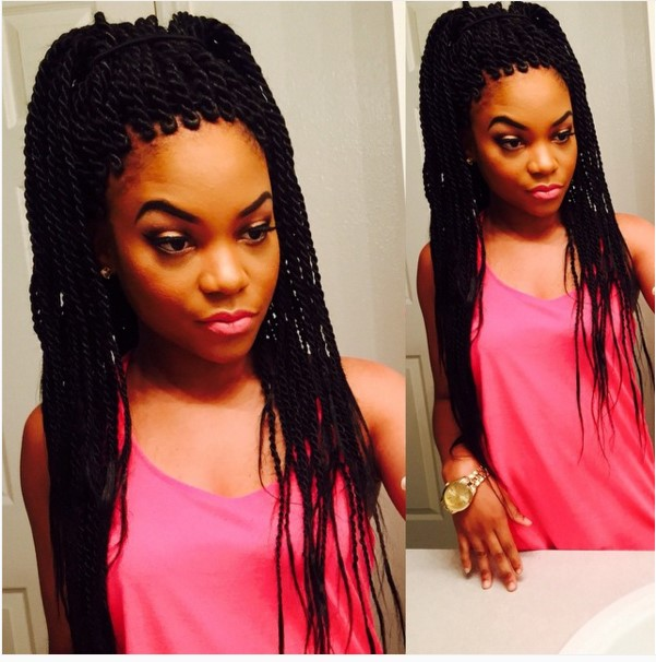 black small rope senegalese twist hair bmodish