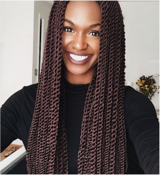 cute brown senegalese twist hair