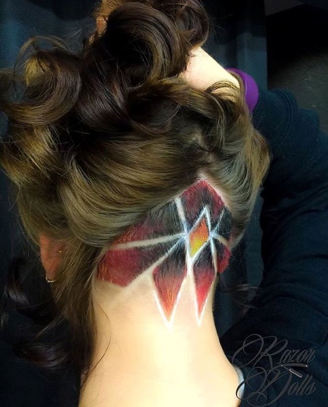 Graffetch Undercut Design hair ombrehair