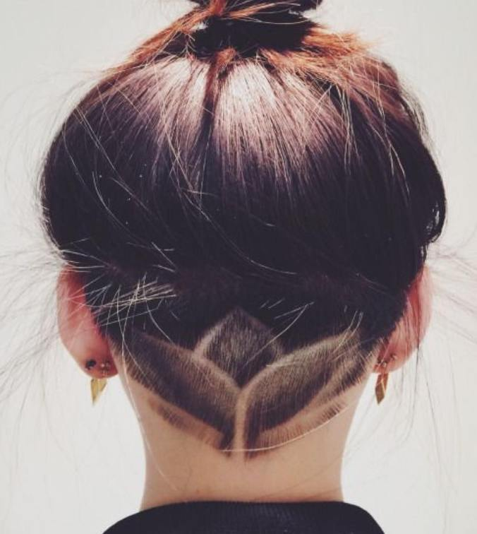 amazing lotus undercut hair design ombrehair
