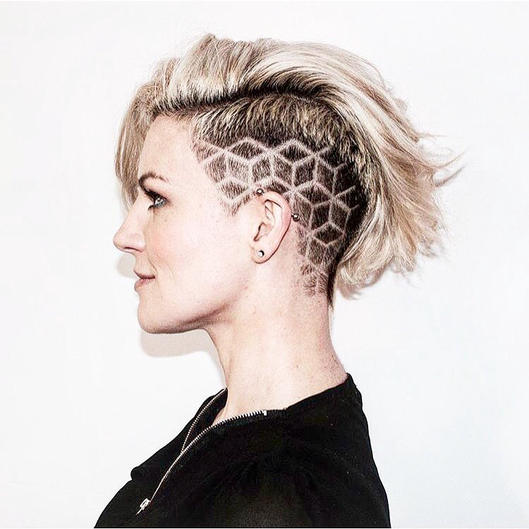 cube undercut hair design