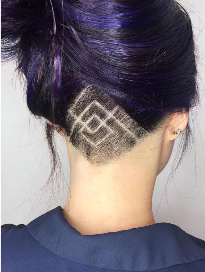 geometric undercut hair ombrehair