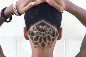 sunflower undercut hair designs ombrehair