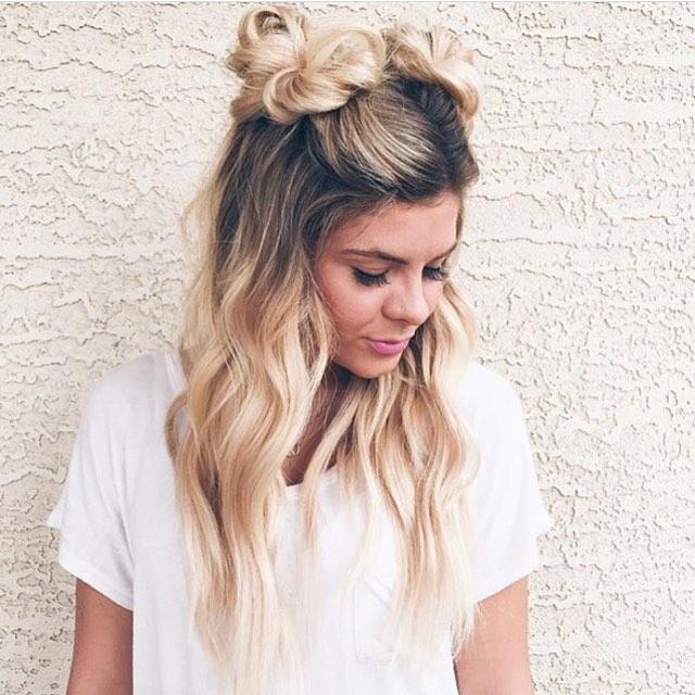Cute double buns hair