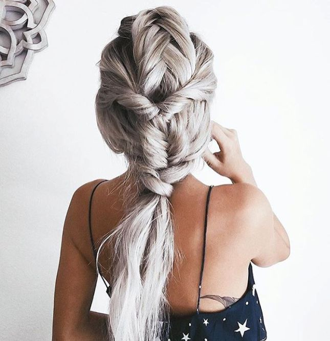 amazing braid into ponytail hair