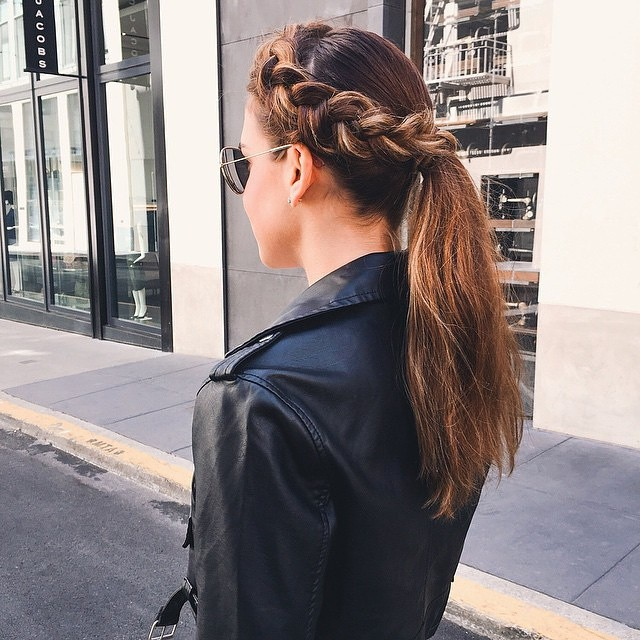 braided crown ponytail