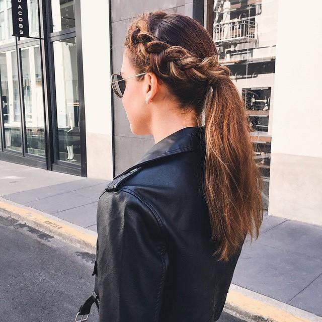 braided crown ponytail