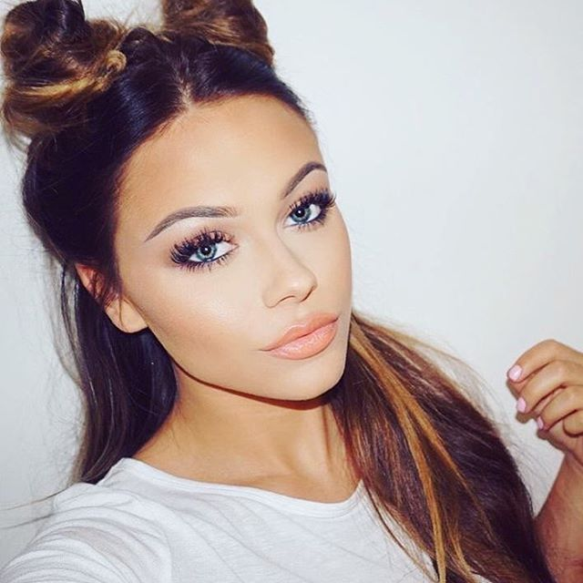 classic and simple double buns hair