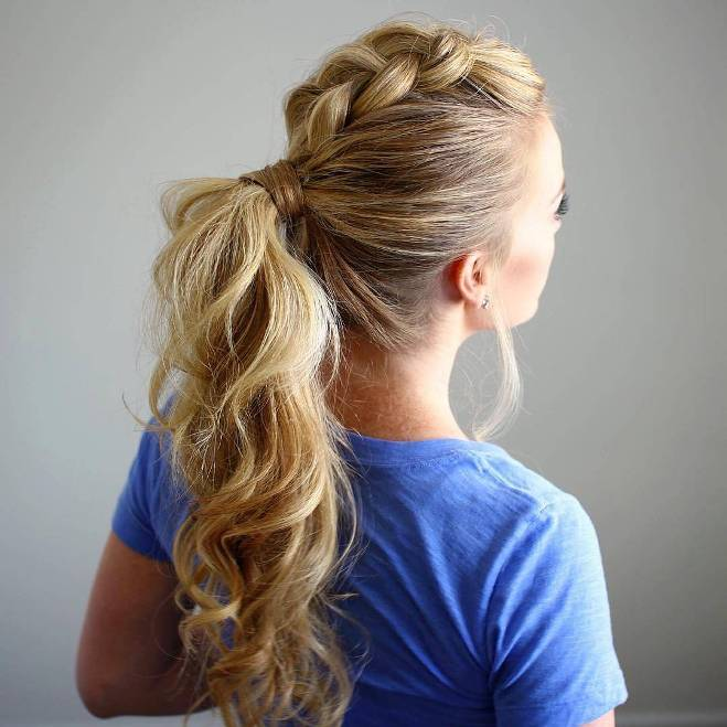 dutch mohawk ponytail hair