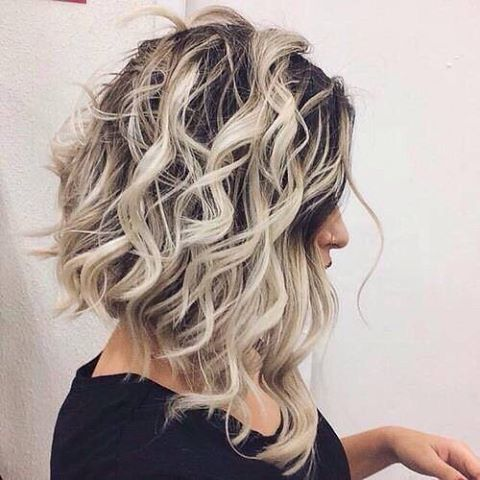 15 The Most Beautiful Curly Long Bob Hairstyles Ombre Hair