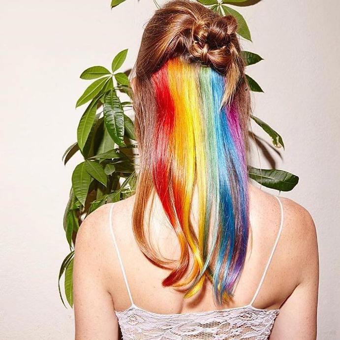hidden rainbow hair trends