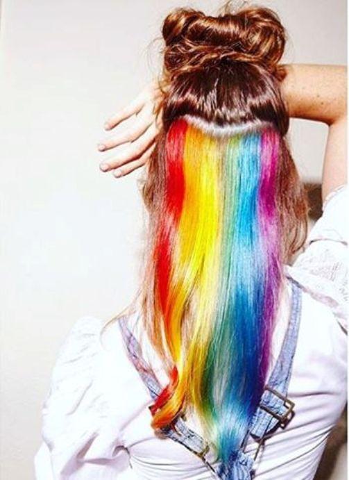 hidden rainbow long hair 2