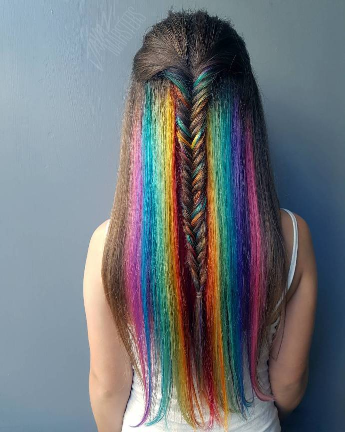 hidden rainbow long hair 3