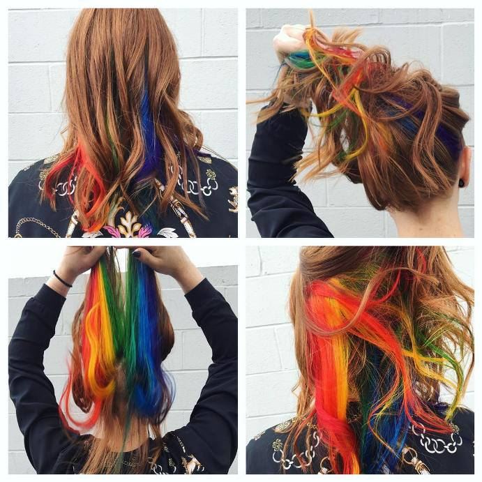 hidden rainbow medium hair