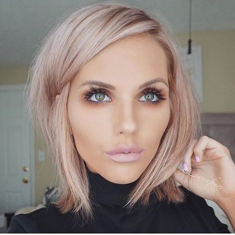 pretty rose gold hair and makeup