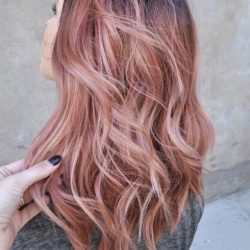 rose gold wave hairstyle